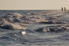 Surf. On the beach of Destin, Florida royalty free stock image