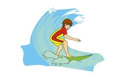 surf illustration stock