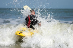 Into the surf Royalty Free Stock Photography