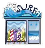 A surf accessories store Royalty Free Stock Photo
