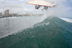 Surf air wipeout Royalty Free Stock Image