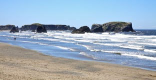 Surf along Bandon Beach Stock Photography