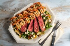 Free Surf And Turf Salad Stock Images - 217223674