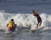 Surf antics Royalty Free Stock Image