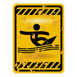 Surf area sign Royalty Free Stock Image