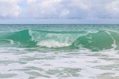 Surf on the Atlantic coast, Cuba, Varadero Royalty Free Stock Images