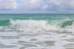 Surf on the Atlantic coast, Cuba, Varadero Royalty Free Stock Photo