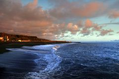 Surf of Atlantic Ocean Royalty Free Stock Photos