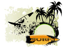 Surf background Royalty Free Stock Photo