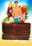Surf background Stock Photo