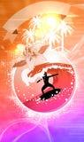 Surf background Royalty Free Stock Image