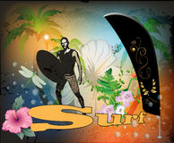 Surf background Stock Photos