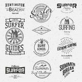 Surf badges logos and labels for any use Royalty Free Stock Photos