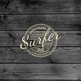 Surf badges logos and labels for any use Royalty Free Stock Image