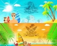 Surf Banner Horizontal Stock Photo