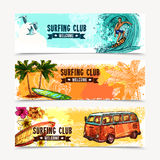 Surf Banner Set Royalty Free Stock Images