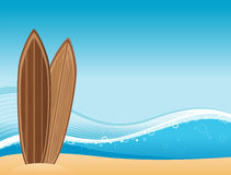 Surf beach background Stock Image