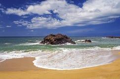Surf on Beach, Kauai, Hawaii Stock Images