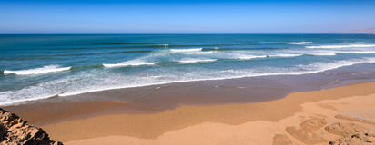 A surf beach near Taghazout surf and fishing village,agadir,morocco Stock Photos