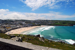 Surf beach at Newquay, Cornwall Royalty Free Stock Photos