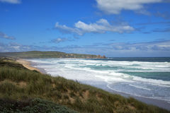 Surf beach in Philip island Royalty Free Stock Image