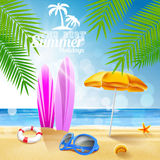 Surf on the beach summer holidays Royalty Free Stock Photos
