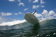 Surf big cutback. A longboard surfer doing a big cutback stock photo