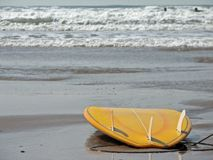 Surf board. Yellow surf board Stock Photos