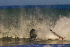 Surf Board  Air Wipe Out Water Stock Photo