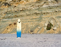 Surf Board on Beach, California Royalty Free Stock Image