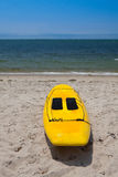 Surf Board On A Beach in Chatham, Cape Cod, USA Stock Image
