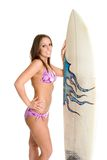 Surf Board Girl royalty free stock photography