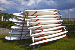 Surf board. Many surf boards in a pile Royalty Free Stock Image