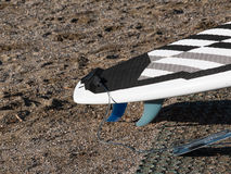 Surf board in the sand on the Beach Royalty Free Stock Image
