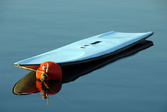 Surf board  on the sea Stock Image