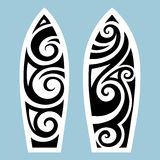 Surf board. Tattoo style Royalty Free Stock Photos
