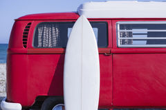 Surf board and van Stock Images