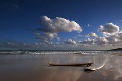 Surf boards on the beach. Surf boards on the sand near sea, in Baia Chia beach (Sardinia, Italy Stock Photos
