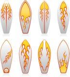 Surf boards flame series. Vector illustration of surf boards flame series Stock Photo