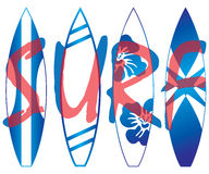 Surf boards Stock Photography
