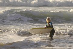 Surf Body Board Boy Royalty Free Stock Photos