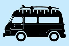 Surf bus silhouette Stock Photos