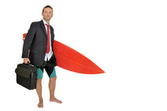 Surf businessman Stock Images