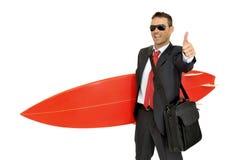 Surf businessman Stock Photos