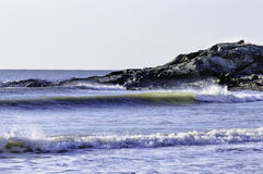 Surf in Buzzards Bay Royalty Free Stock Photography