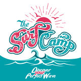 The Surf Camp hand lettering Royalty Free Stock Photography