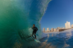 Surf City Durban Surfer Wave Stock Photos