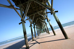 Surf City Pier. Pier in Surf City, North Carolina stock photo