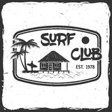 Surf club concept. Royalty Free Stock Photos