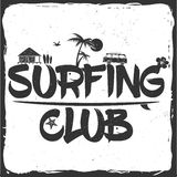 Surf club concept. Royalty Free Stock Photography